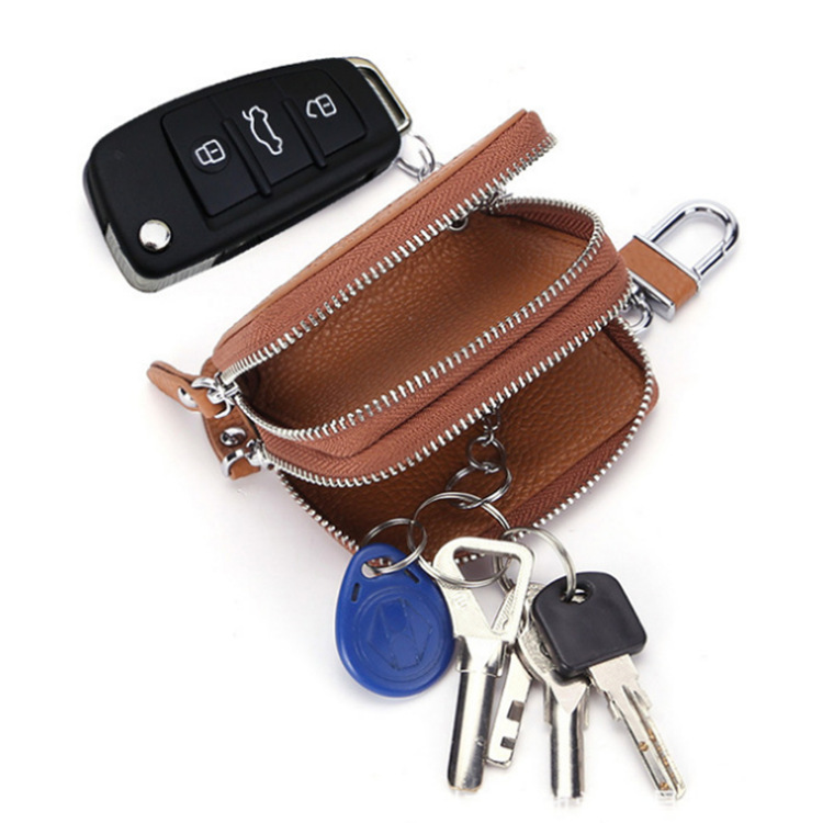 Every Car Key Bag Genuine Leather Car Logo Key Car Key Cover Car Mounted 360 ° Rotating Chi Bao
