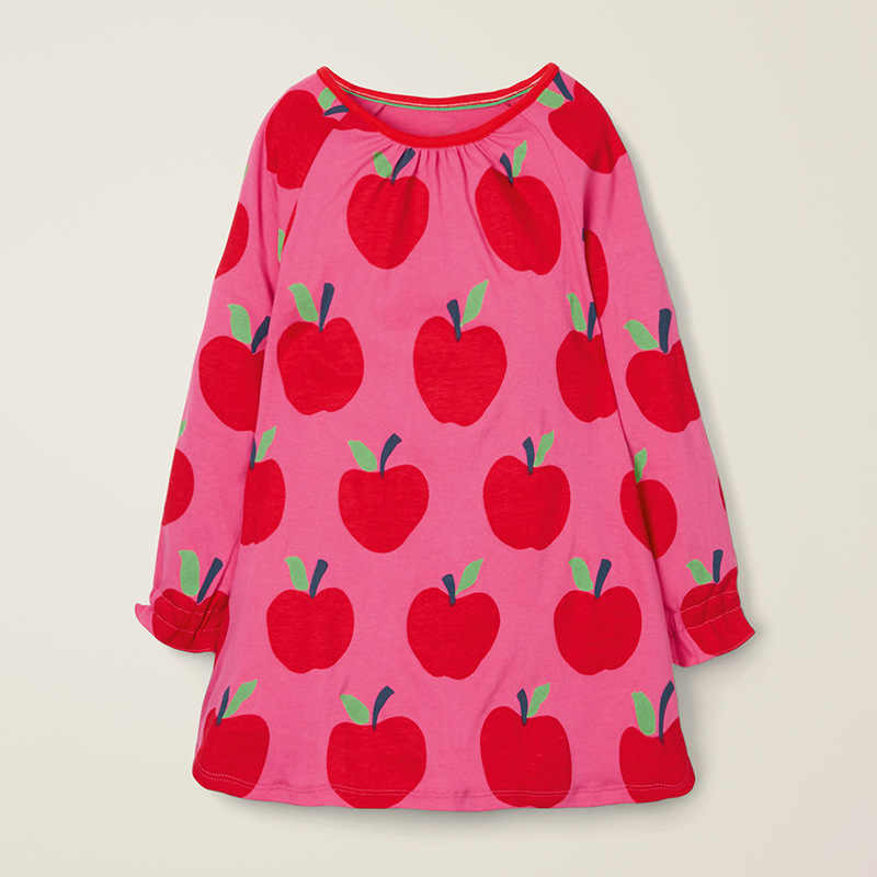 Little maven 2-7Years 2018 Autumn Ladybug Dress For Girls Child Toddler Baby Girls Tops Tees Dresses Children Kids Fall clothing