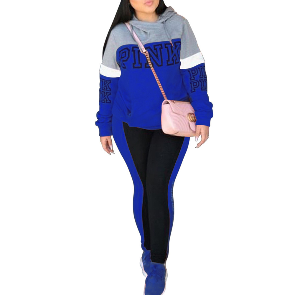 Autumn Winter Female Two Piece Sets Pink Tracksuit For Women Long Sleeve Jackets And Pants Two Piece Set Warm Outfits Women Suit