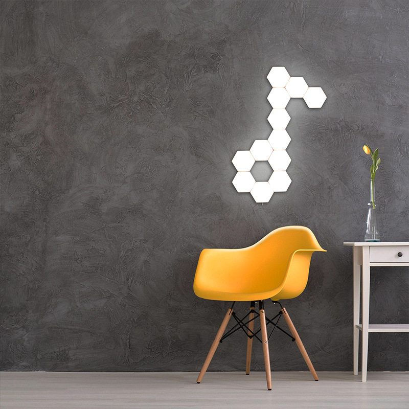 2019 New DIY Wall Lights Honeycomb Hexagonal Modular Touch Switch LED Bar Shop Home Night Light Creative Gift Idea For Christmas