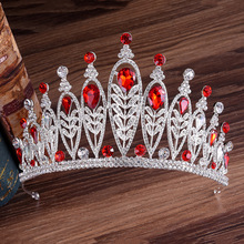 Kawaii Princess Crown Wedding Tiara Diadem for Girls Headband Bridal Headdresses Bride Hair Jewelry Ornaments Decoration red crystal wedding crown queen tiara bride crown headband bridal accessories diadem mariage hair jewelry ornaments