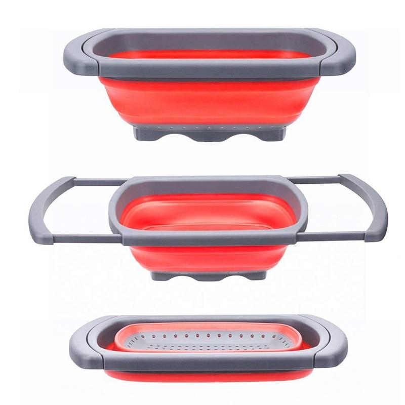 Ev ve Bahçe'ten Su Kepçeleri'de Sıcak satış mutfak katlanabilir kevgir üzerinde lavabo süzgeci sabit tabanı ile ayakta 6 quart kapasiteli bulaşık makinesinde yıkanabilir title=