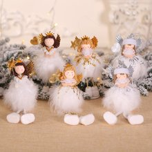 New Year Latest Christmas Angel Dolls Cute Xmas Tree Ornament Window Decor Pendant for Home Navidad 2020 Kid Gift
