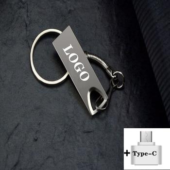 Metal PenDrive 2IN 1 Type-C Usb Flash Drive 64GB 4G 8G 16GB 32GB High Quality Pen USB 2.0 Disk Stick