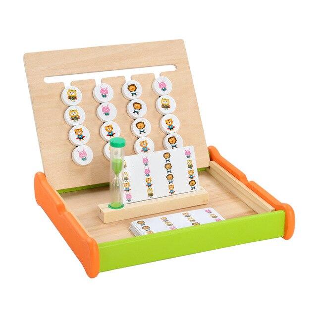 Jouets en bois montessori éducation jouet animal quatre couleurs jeu préscolaire enfance éducation formation apprentissage jouets cadeau