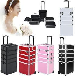 5 farben Wählen Make-Up Schönheit Kunst Box Kosmetik Kosmetische Friseur Nagel 5 In 1 Fall Box Trolley