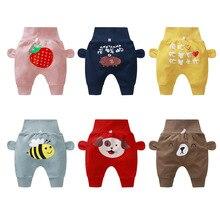 цена Baby Casual Pants Children Kids Boys Girls Cartoon Harem Newborn Long Pants Toddler Cotton Trousers Fashion High Quality Clothes онлайн в 2017 году