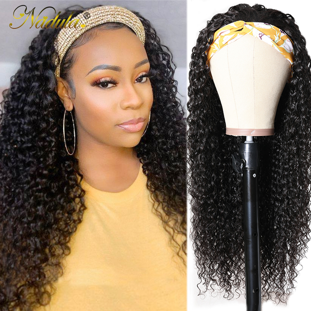 Nadula Curly Headband Wig  8-26 Curly Hair Headband Wig  Virgin  Wigs With Headband Natural Looking 1