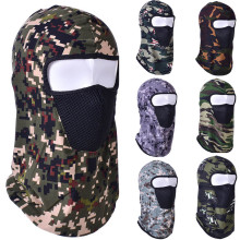 Winter Warm Motorcycle Mask Outdoor Ski Riding Police Balaclavas Outdoor Sports Tactical Face Shield Fleece Mask#BL40