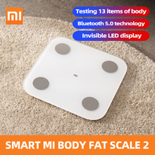 Xiaomi Mi Body Composition Scale 2 Smart Fat Weight Health Scale BT 5.0 Balance Test 13 Body Date BMI Weight Scale LED Display