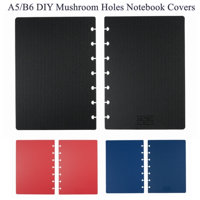 B6/A5 Notebook Covers With Mushroom Holes For DIY Daily Planner Schedule Discbound Discs Bound Notebook Binding LF19-060