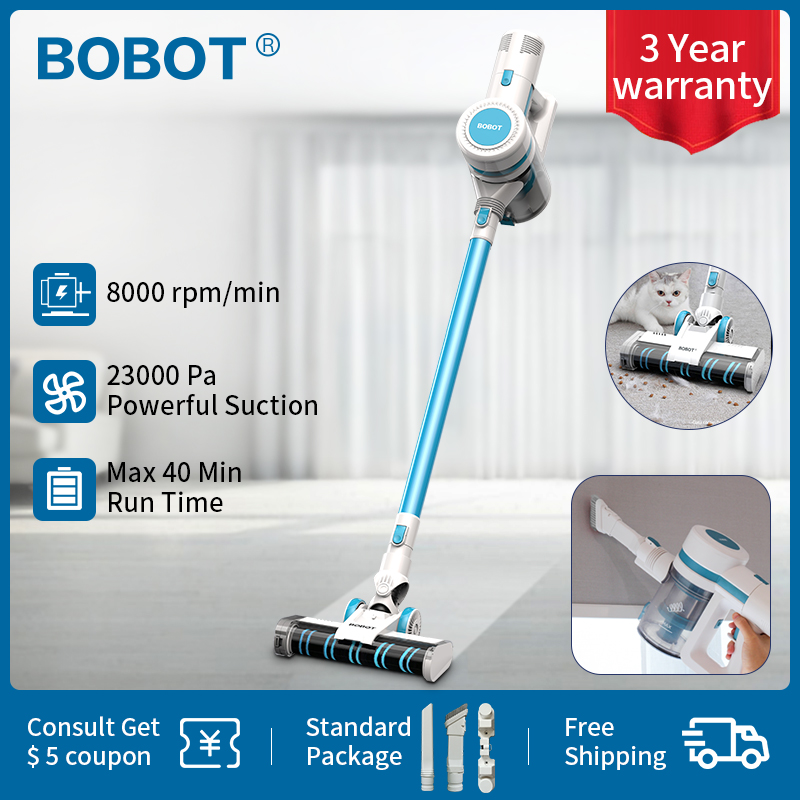 BOBOT Free 7180 23000Pa Multifunction Handheld Vacuum Cleaner With 12 Level HEPA Filter System Portable Vertical Cordless Vacuum