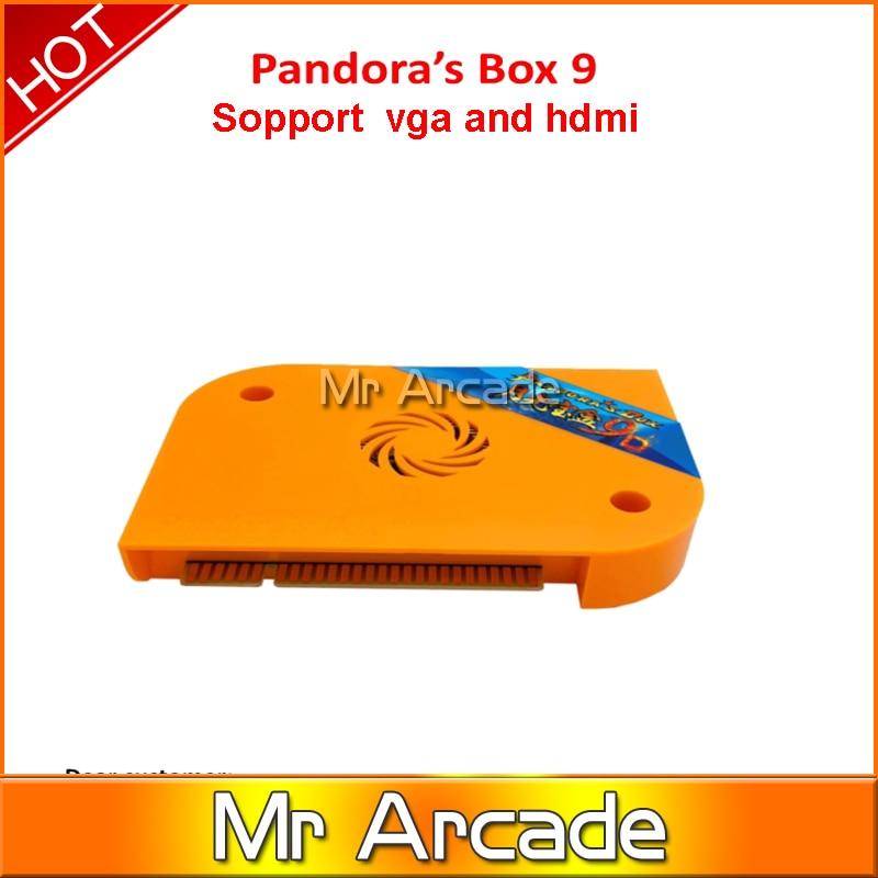 HOT SALE pandora box 9 (1500 in 1) jamma arcade multi game board pcb multigame card vga & HDMI output(China)