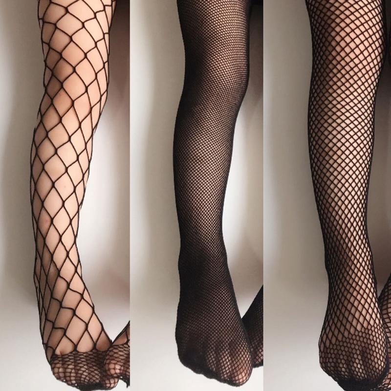 Girls Fashion Mesh Stockings Kids Baby Fishnet Stockings Black Pantyhose Tights title=