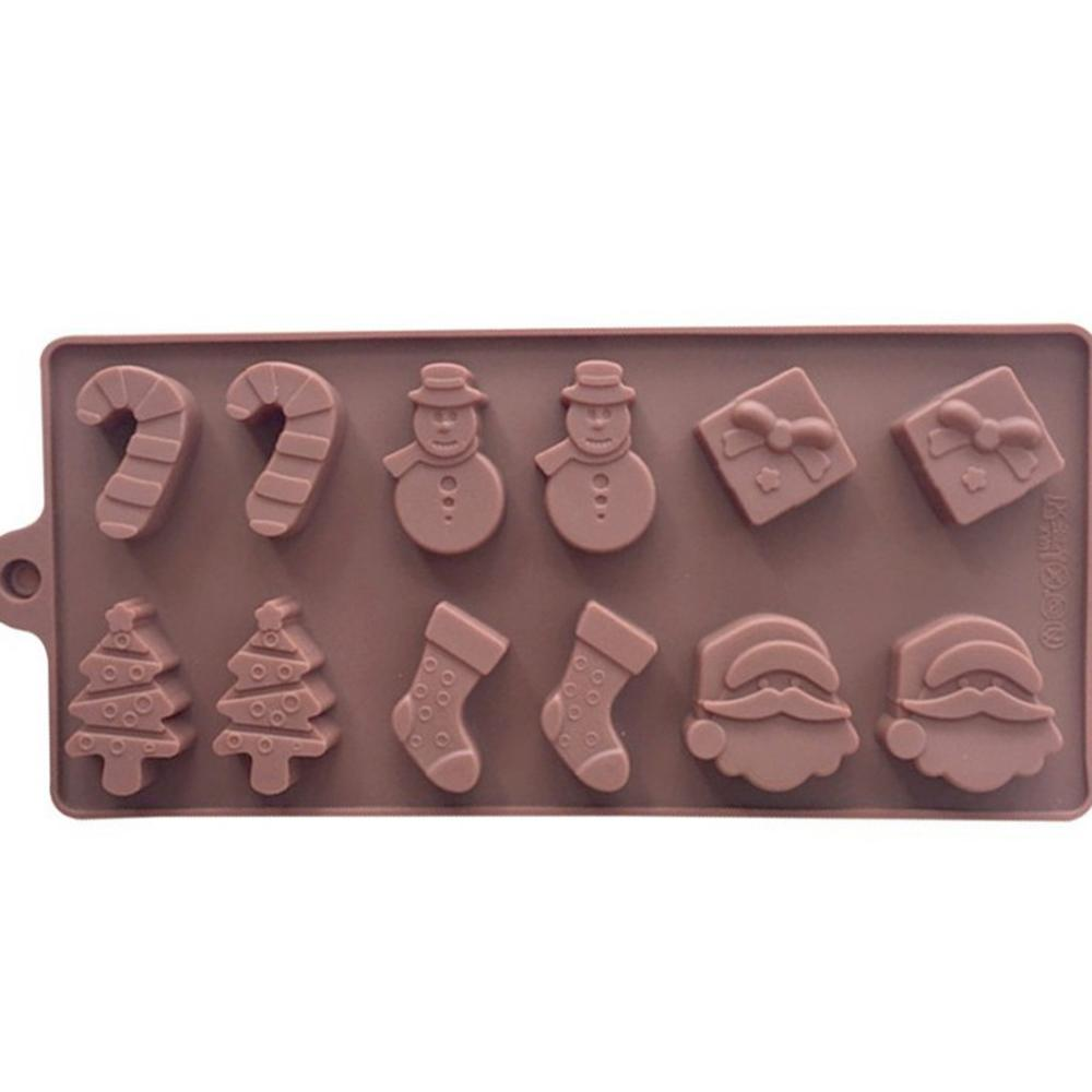 Christmas Design Silicone Baking Molds Made of High Quality Food Grade Silicone Material For Chocolate 1