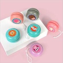 Cute wooden yo-yo children multi-color cartoon animal yo-yo hot sale has been popular wooden puzzle development toy small gift rogz ошейник для собак rogz yo yo xs 8мм розовый