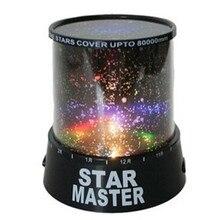 Удивительный Романтический Красочный космический Звездный Мастер светодиодный проектор звездного неба Ночной светильник потолочный светильник со звездами
