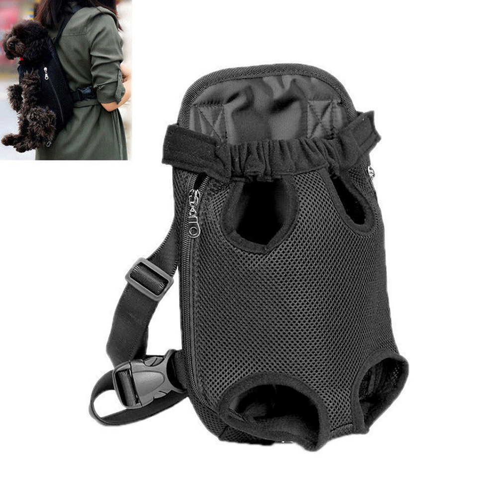 1Pc Pet Carrier <font><b>Backpack</b></font> Adjustable Cat Dog Front Legs Out Carrier Travel Bags JS23 image