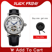 Seagull Business Watches Mens Mechanical Wristwatches Week Calendar 50m Waterproof Leather Male Bracelet Clasp Watch M171S