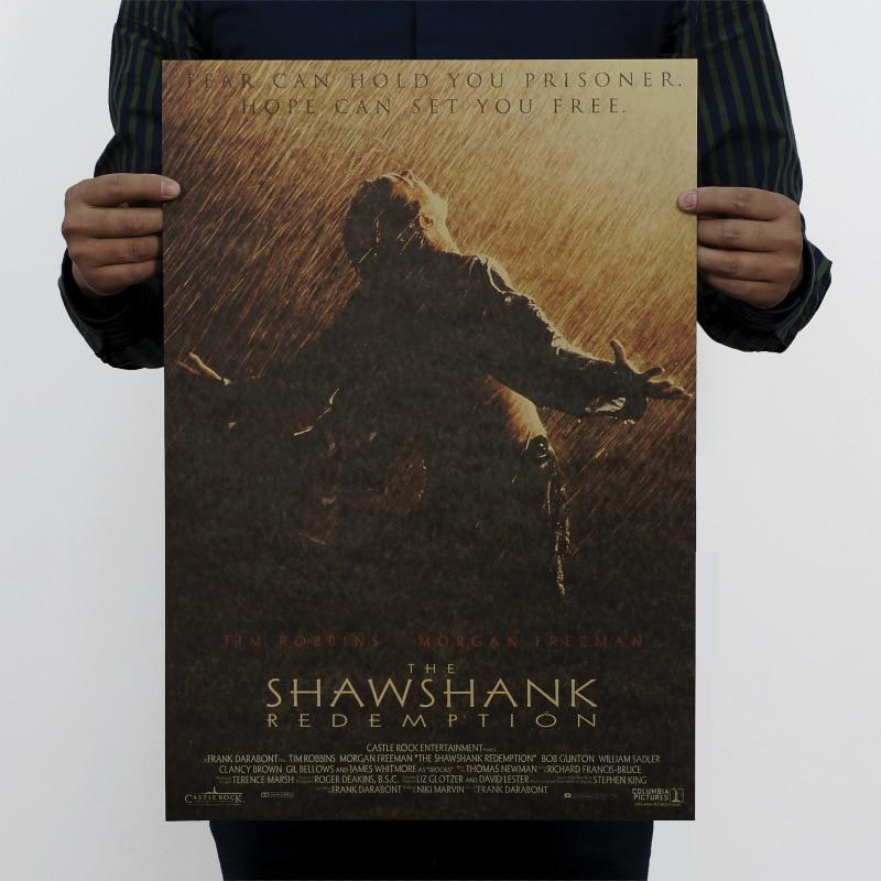 The Shawshank Redemption Vintage Kraft Paper Classic Movie Poster Map School Wall Garage Decoration  Art DIY Retro Decor Prints