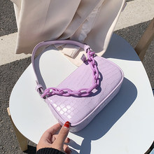 Petits sacs à main en cuir PU à motif de pierre pour femmes, fourre-tout à bandoulière et pochettes de voyage à la mode, 2020