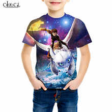 Anime Movie How To Train Your Dragon T Shirt Family Fitted 3D Print Cute Boy Girl T-shirts Short Sleeve Kid Casual Pullovers M42