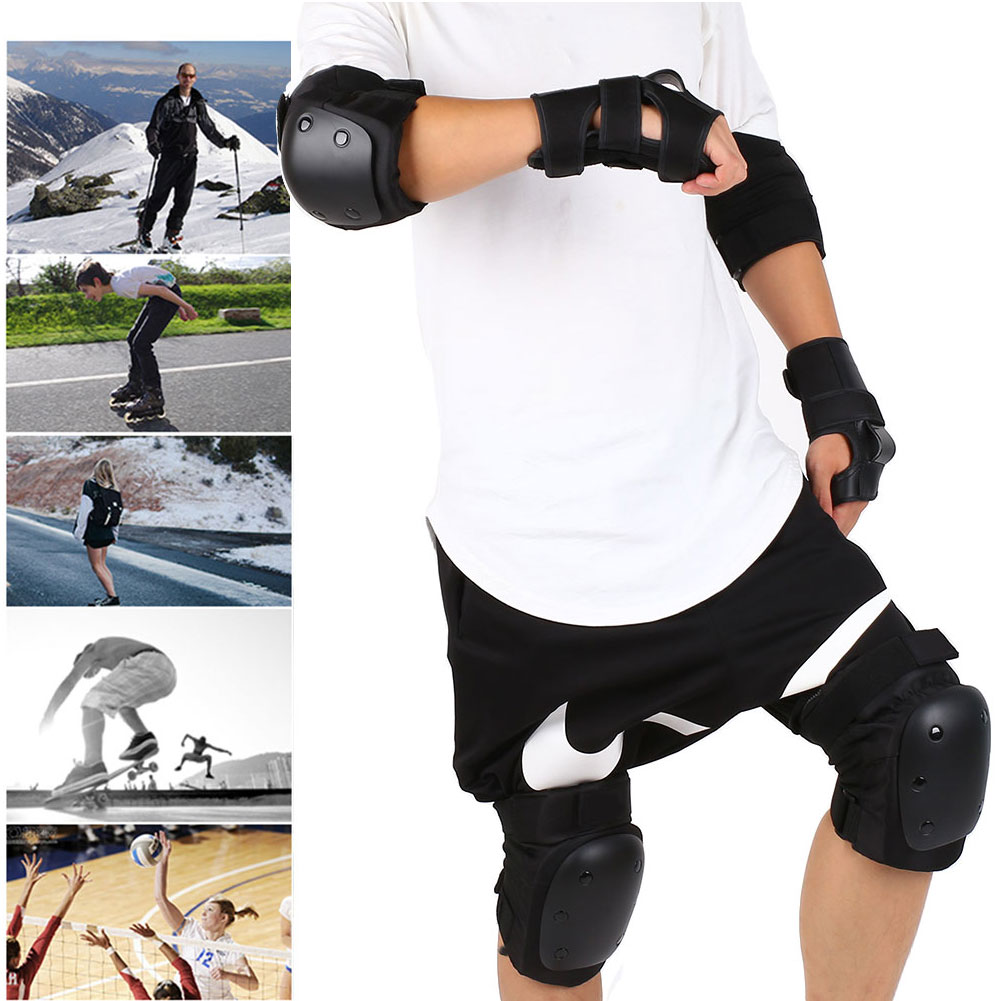 6Pcs/Set Skateboarding Protector Skating Kneecap Hand Guard Sporting Street
