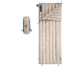 portable Nylon Goose Down Sleeping Bag Ultralight Envelope Type For Outdoor Camping 15D 400T