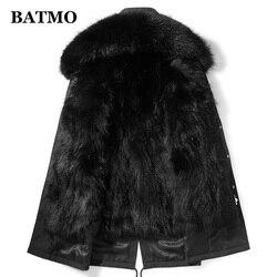 Batmo 2020 зимняя мужская куртка с капюшоном с подкладкой из меха енота, зимние теплые мужские парки больших размеров M-4XL