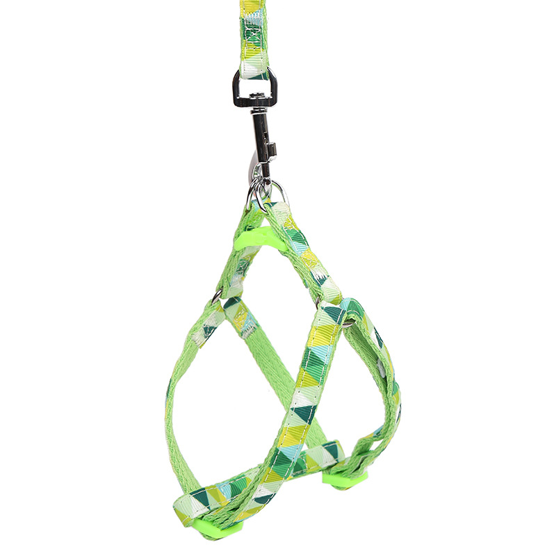 Chest And Back-Dog Chain Nylon Dog Rope Dog Chest And Back With Set Vest Style Foam Handle Pet Traction Rope