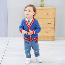 ciciibear Spring Autumn Baby Sweater Boys V-Neck Jumper Knitwear Long-Sleeve Cotton Cardigans Children Clothes Kids Sweater Coat new preppy style children s clothing spring autumn winter long sleeve sweater cardigan boys cotton v neck solid kids sweaters
