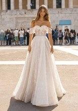 Real Photo Berta sweetheart คอเงาชุดแต่งงานลูกไม้สำหรับงานแต่งงาน Vestido de noiva ชุดแต่งงานเงือก Wrap HA105