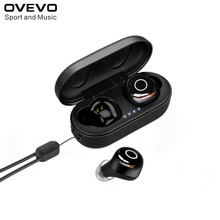 2019新ovevo Q65プロtws bluetooth V5.0イヤホンデュアルワイヤレス3Dステレオヘッドセット防水スポーツイヤフォン電話用