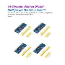 4Pcs High Speed 16CH Analog Digital Multiplexer Breakout Board Module CD74HC4067 CMOS Precise Module For Arduino admp401 mems microphone breakout module board for arduino universal 1 3cm 1cm