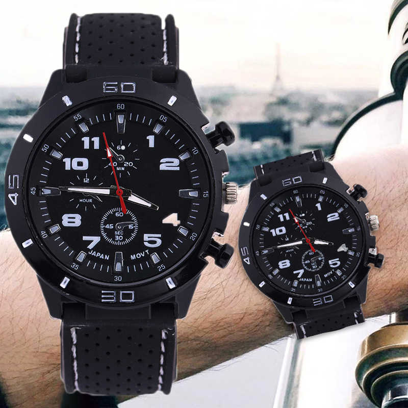 2019 Luxury Brand rubber Quartz Watch Women Men Ladies Fashion Wrist Watch Wristwatches three-eyes relogio feminino masculino