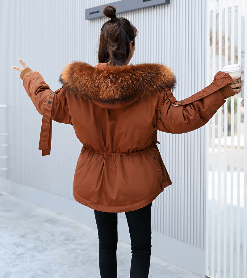 Korean Style 2019 Winter Jacket Women Cotton Padded Hooded With Fur Fe_B0_11