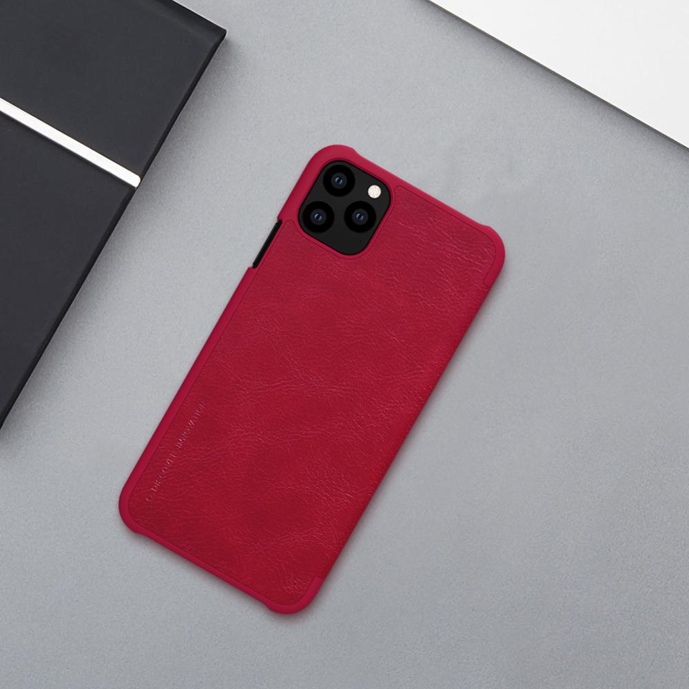 Untuk iPhone 11 Pro Max X XR XS Max Kasus Nillkin Qin Luxury Balik - Aksesori dan suku cadang ponsel - Foto 3