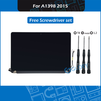 Full Tested 15.4 inch LCD Display Assembly 661-02532 for Macbook Pro Retina A1398 LCD Screen Assembly Replacement 2015