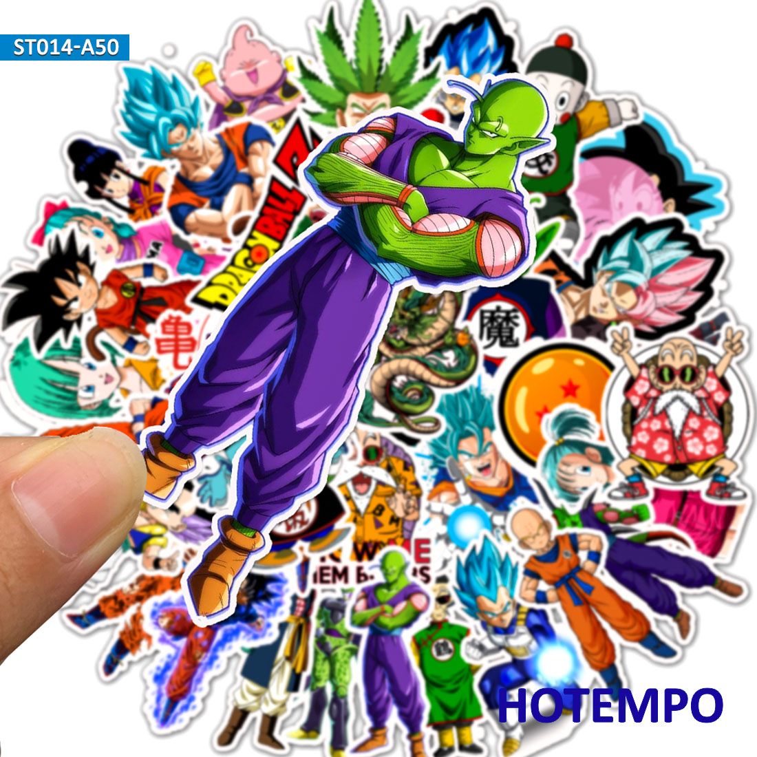 50pcs Not Repeat Anime Goku Dragon Ball Stickers DIY Mobile Phone Laptop Luggage Suitcase Guitar Skateboard Decal Stickers