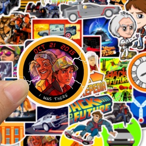 Image 5 - 50Pcs Film Zurück In Die Zukunft Aufkleber Pack Für Auf Die Laptop Kühlschrank Telefon Skateboard Reise Koffer Aufkleber