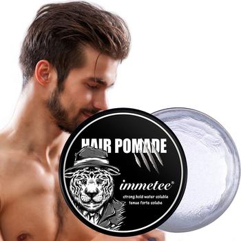 Mocna pomada do włosów wosk żelowy dla mężczyzn długotrwałe suche stereotypy typ Balsam do włosów lśniący połysk do stylizacji włosów produkty do kontroli krawędzi tanie i dobre opinie Ms Dear CN (pochodzenie) Pomady i woski