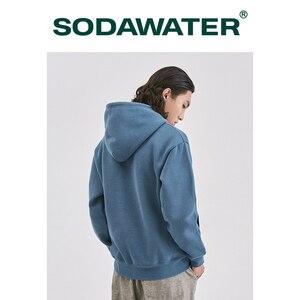 Image 2 - SODAWATER Men Hoodies Japanese Street Style 11 Pure Colors Hooded Sweatshirt Pullover Thick Warm Oversize Hoodie Men Tops 167W17