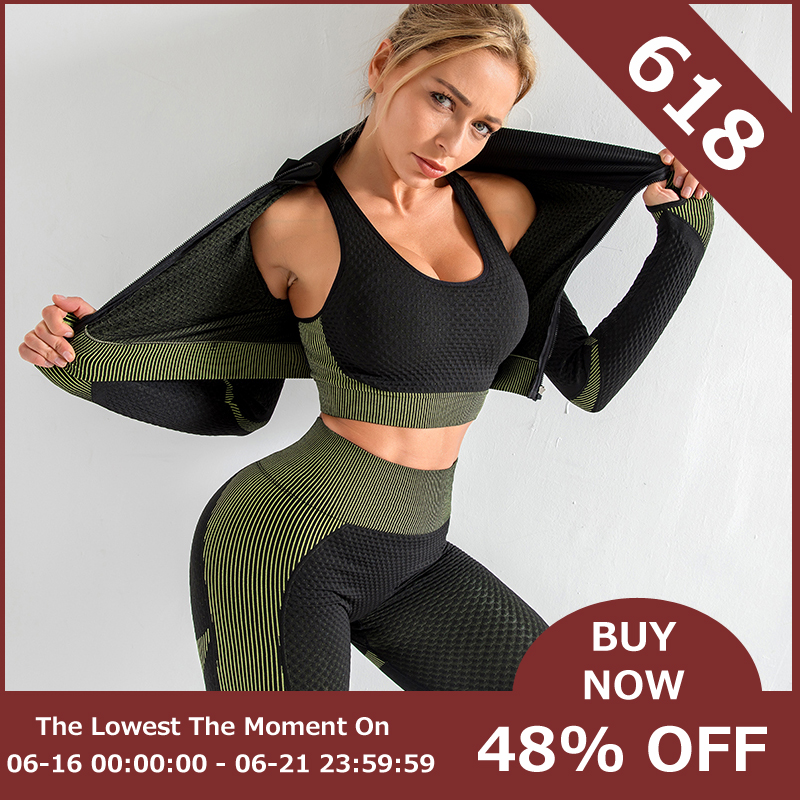 Women yoga set gym clothing Female Sport fitness suit Running Clothes yoga top+  Leggings women Seamless gym yoga bra suits S XL|Yoga Sets|   - AliExpress