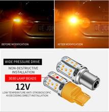 1 шт. 1156 BA15S P21W BAU15S PY21W светодиодный T20 7440 W21W W21/5 Вт 1157 BAY15D светодиодный лампы 35smd CanBus лампы для поворотов светильник 12V