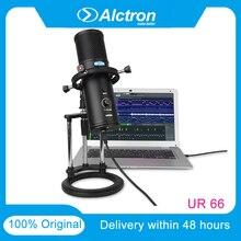 100% originale Alctron UR66 USB Microfono 3 Capsule Pick Up Suono Vivido Realtà 4 Modello di Impostazione Built in Cuffia amplificatore