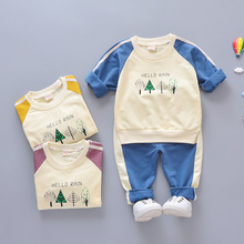 The spring and autumn children's clothing for both boys and girls  two-piece suit of trendy children's clothing. все цены