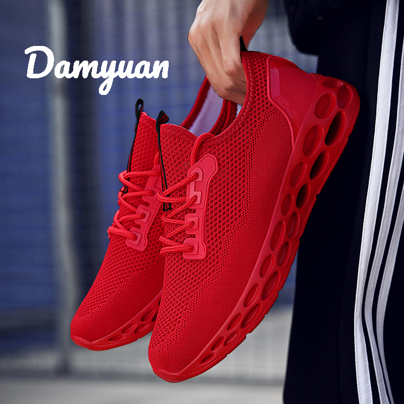 Damyuan 2019 Fashion Autumn Men Casual Flyweather Comfortable Breathable Jogging Light Size 46 47 Sport Height Increasing Shoes