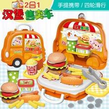 Çocuk simülasyon Fast Food Hamburger Hotdog mutfak oyuncaklar oyna Pretend minyatür Snack Burger bakkal dükkanı eğitim oyuncaklar