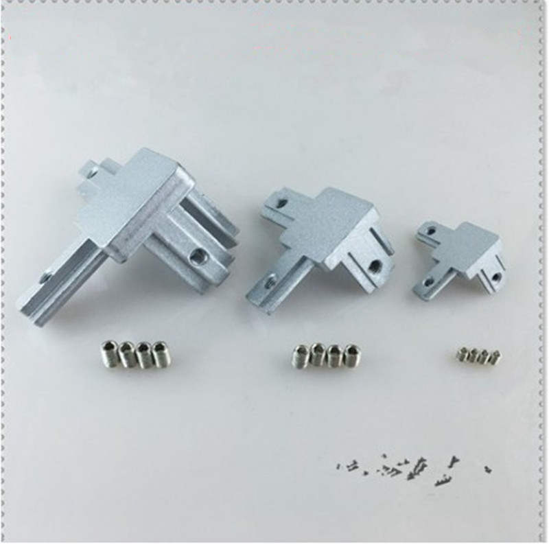 L Type 3-dimensional Bracket  2020 3030 4040 T Slot Aluminum Profile Concealed 3-way Corner Connector Bracket Interior Connector