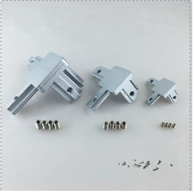 L Type 3-dimensional Bracket  2020 3030 4040 T Slot Aluminum Profile Concealed 3-way Corner Connector Bracket Interior Connector